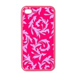 Pink Leaf Apple iPhone 4 Case (Color)