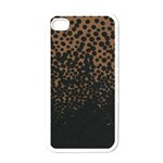 Charcoal Dot Apple iPhone 4 Case (White)