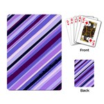Purple Stripe Playing Cards Single Design