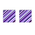 Purple Stripe Cufflinks (Square)
