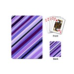 Purple Stripe Playing Cards (Mini)