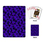 Purple Leaf Playing Cards Single Design