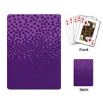 Purple Dot Playing Cards Single Design