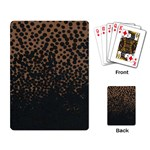 Charcoal Dot Playing Cards Single Design