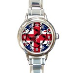 United Kingdom Round Italian Charm Watch