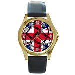 United Kingdom Round Gold Metal Watch