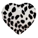 Snow Leopard	 Ornament (Heart)