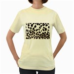Snow Leopard	 Women s Yellow T-Shirt