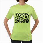 Snow Leopard	 Women s Green T-Shirt