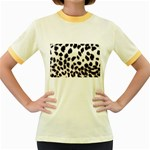 Snow Leopard	 Women s Fitted Ringer T-Shirt