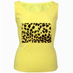 Snow Leopard	 Women s Yellow Tank Top