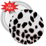 Snow Leopard	 3  Button (10 pack)