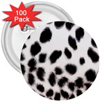 Snow Leopard	 3  Button (100 pack)