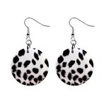 Snow Leopard	 1  Button Earrings