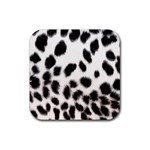 Snow Leopard	 Rubber Square Coaster (4 pack)