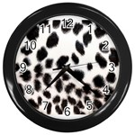 Snow Leopard	 Wall Clock (Black)