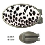 Snow Leopard	 Money Clip (Oval)
