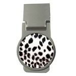 Snow Leopard	 Money Clip (Round)
