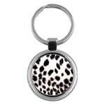 Snow Leopard	 Key Chain (Round)