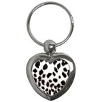 Snow Leopard	 Key Chain (Heart)