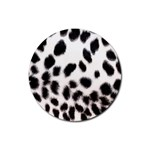 Snow Leopard	 Rubber Coaster (Round)