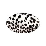 Snow Leopard	 Sticker (Oval)
