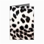Snow Leopard	 Mini Greeting Card