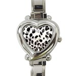 Snow Leopard	 Heart Italian Charm Watch