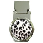 Snow Leopard	 Money Clip Watch