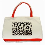 Snow Leopard	 Classic Tote Bag (Red)