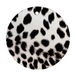 Snow Leopard	 Round Ornament (Two Sides)