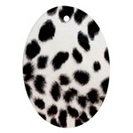 Snow Leopard	 Oval Ornament (Two Sides)