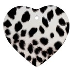 Snow Leopard	 Heart Ornament (Two Sides)