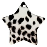 Snow Leopard	 Star Ornament (Two Sides)