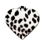 Snow Leopard	 Dog Tag Heart (Two Sides)