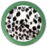 Snow Leopard	 Color Wall Clock