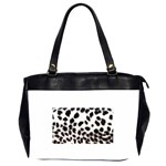 Snow Leopard	 Oversize Office Handbag (Two Sides)
