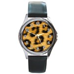 Leopard Print	 Round Metal Watch