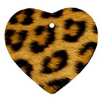 Leopard Print	 Ornament (Heart)
