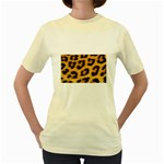 Leopard Print	 Women s Yellow T-Shirt