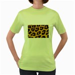 Leopard Print	 Women s Green T-Shirt