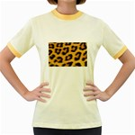 Leopard Print	 Women s Fitted Ringer T-Shirt