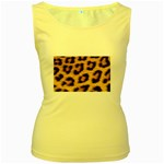 Leopard Print	 Women s Yellow Tank Top