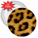 Leopard Print	 3  Button (10 pack)