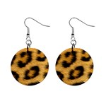 Leopard Print	 1  Button Earrings