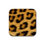 Leopard Print	 Rubber Square Coaster (4 pack)