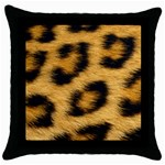 Leopard Print	 Throw Pillow Case (Black)