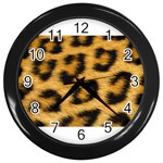 Leopard Print	 Wall Clock (Black)