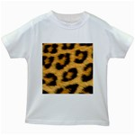 Leopard Print	 Kids White T-Shirt
