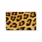 Leopard Print	 Sticker Rectangular (100 pack)